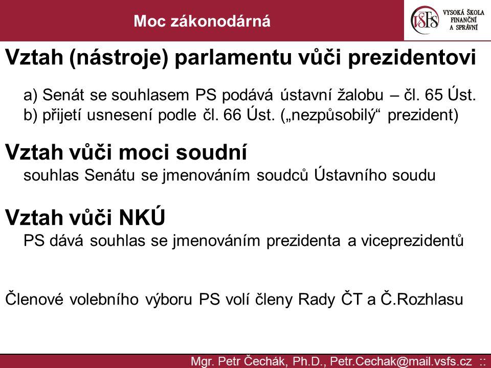 Vztah (nástroje) parlamentu vůči prezidentovi