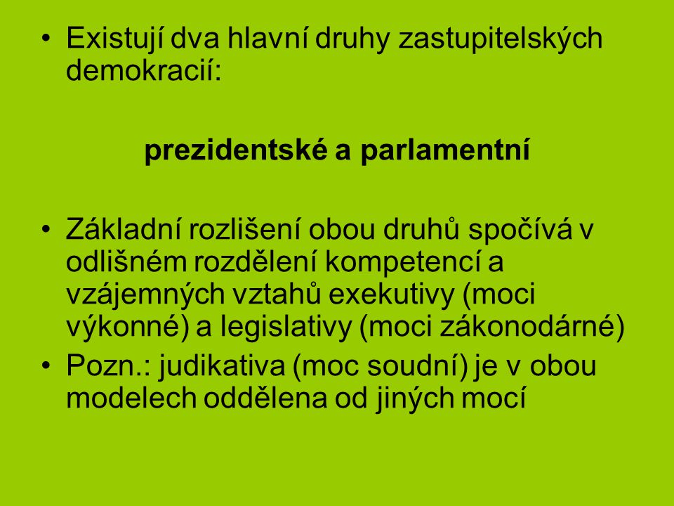 prezidentské a parlamentní