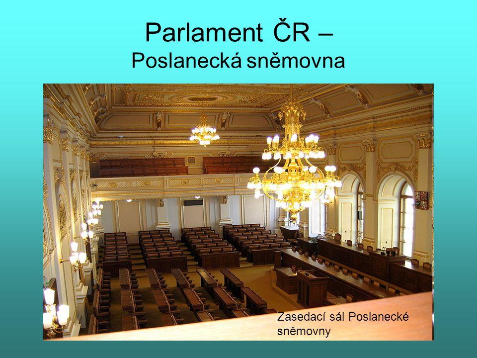 Parlament ČR – Poslanecká sněmovna