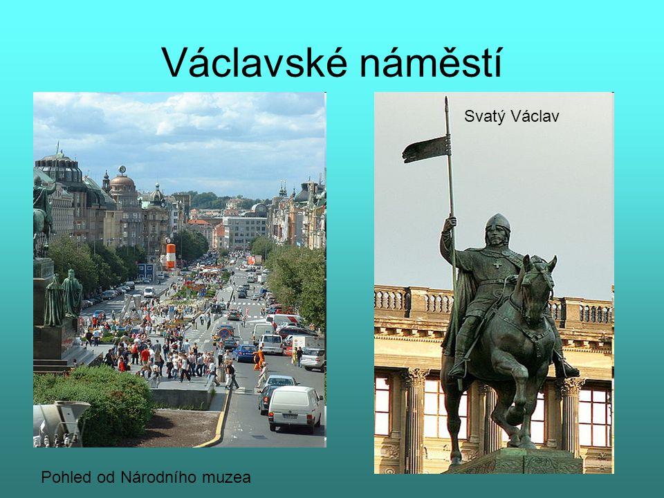 Václavské náměstí Svatý Václav Pohled od Národního muzea