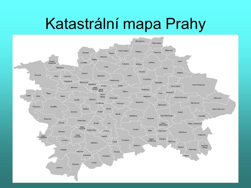 Katastrální mapa Prahy