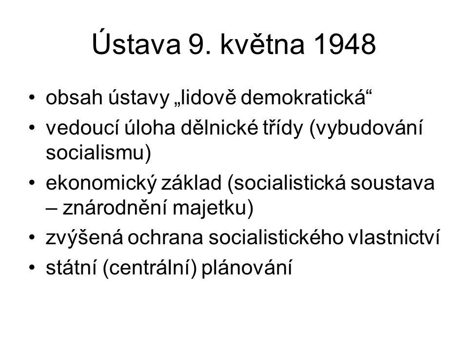 "Ústava 9. května 1948 obsah ústavy ""lidově demokratická"