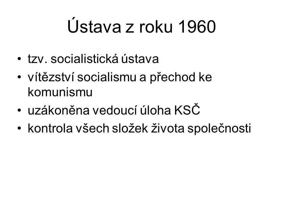 Ústava z roku 1960 tzv. socialistická ústava