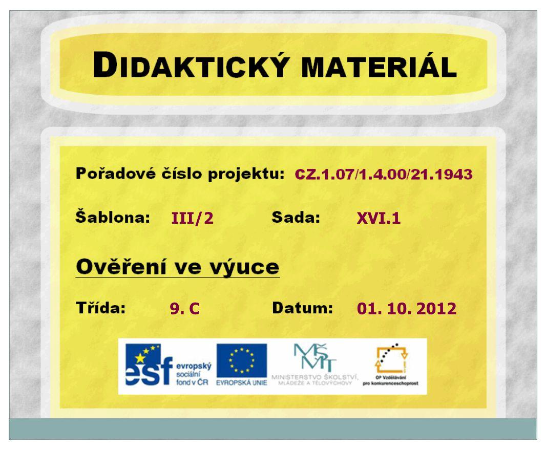 III/2 XVI.1 9. C 01. 10. 2012