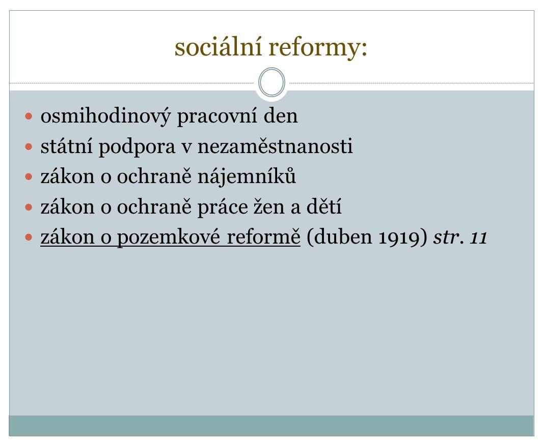 sociální reformy: osmihodinový pracovní den