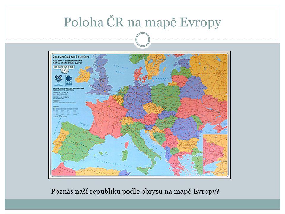 Poloha ČR na mapě Evropy