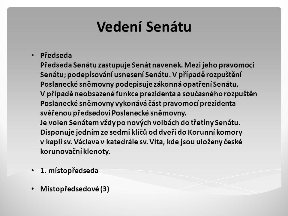 Vedení Senátu Předseda