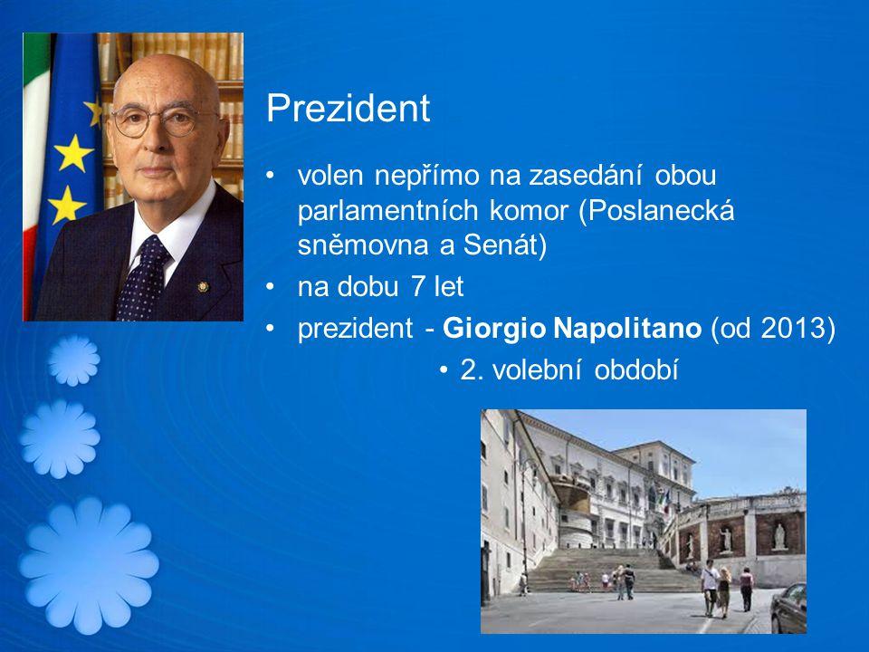Prezident volen nepřímo na zasedání obou parlamentních komor (Poslanecká sněmovna a Senát) na dobu 7 let.