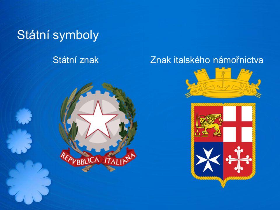Státní symboly Státní znak Znak italského námořnictva