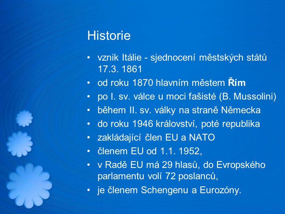 Historie vznik Itálie - sjednocení městských států 17.3. 1861