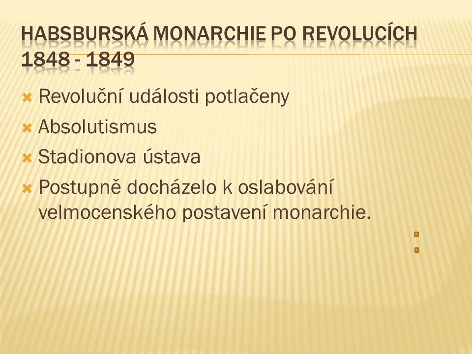 Habsburská monarchie po revolucích 1848 - 1849