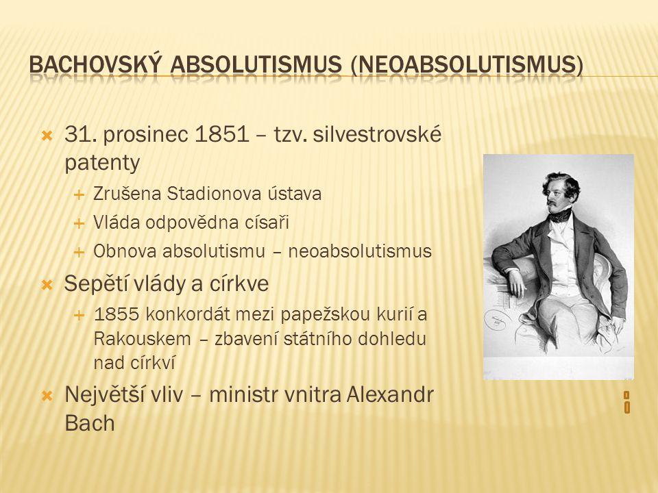 Bachovský absolutismus (neoabsolutismus)