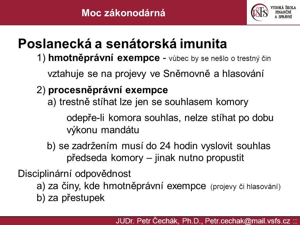 Poslanecká a senátorská imunita