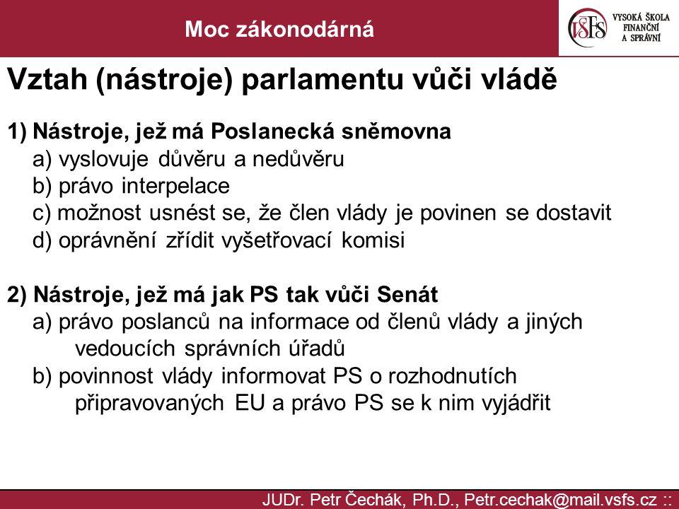 Vztah (nástroje) parlamentu vůči vládě