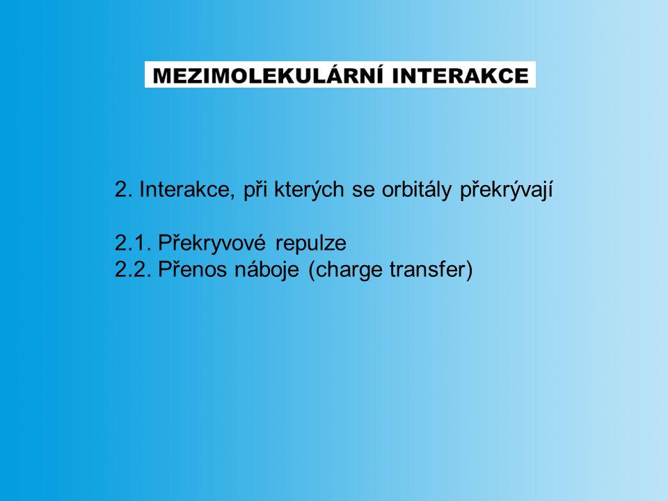 2. Interakce, při kterých se orbitály překrývají