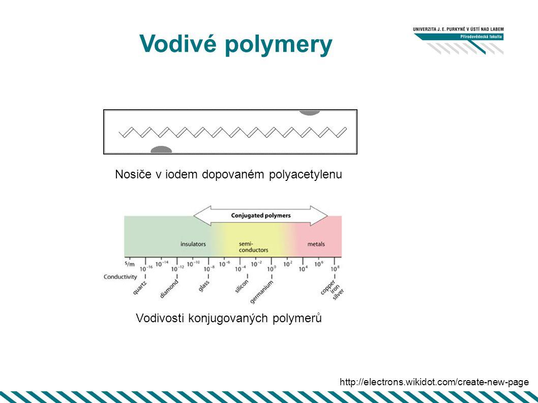 Vodivé polymery Nosiče v iodem dopovaném polyacetylenu
