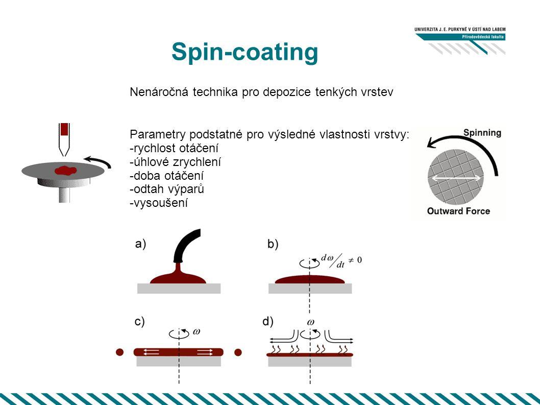 Spin-coating Nenáročná technika pro depozice tenkých vrstev