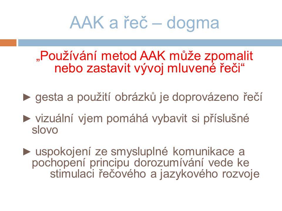 """""""Používání metod AAK může zpomalit nebo zastavit vývoj mluvené řeči"""