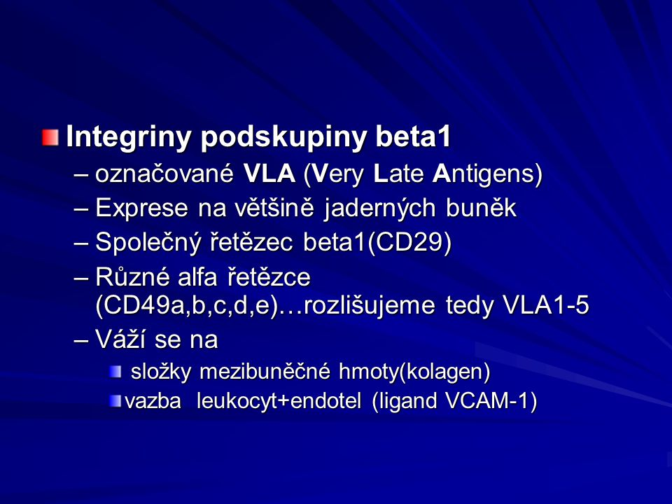 Integriny podskupiny beta1