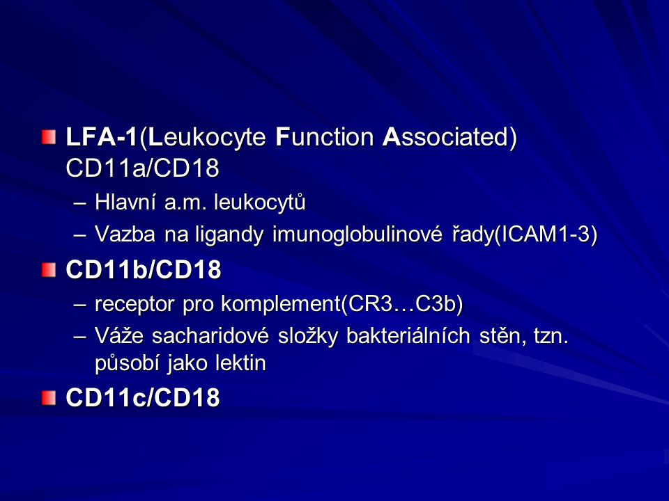 LFA-1(Leukocyte Function Associated) CD11a/CD18