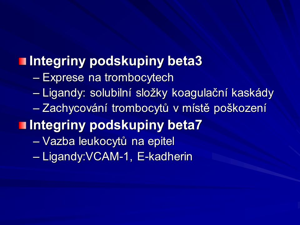 Integriny podskupiny beta3