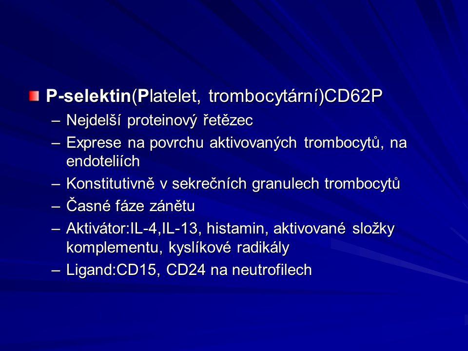 P-selektin(Platelet, trombocytární)CD62P