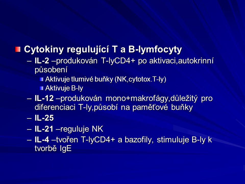Cytokiny regulující T a B-lymfocyty