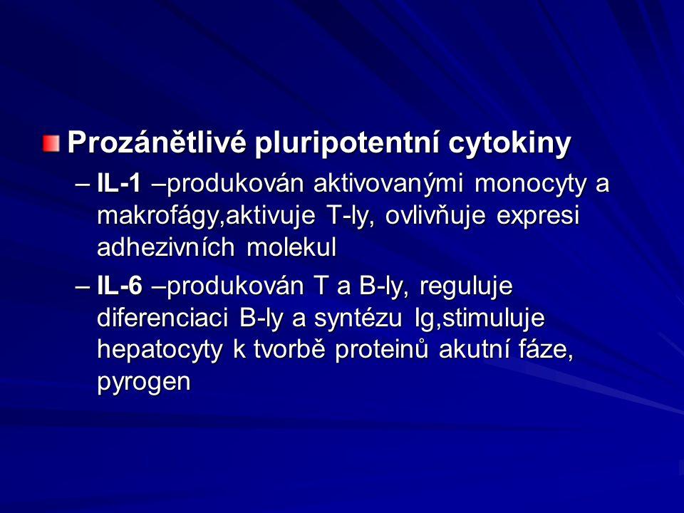 Prozánětlivé pluripotentní cytokiny