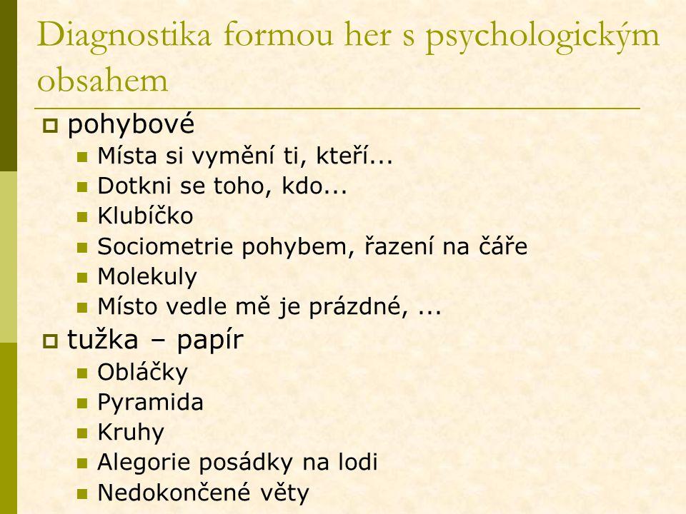 Diagnostika formou her s psychologickým obsahem