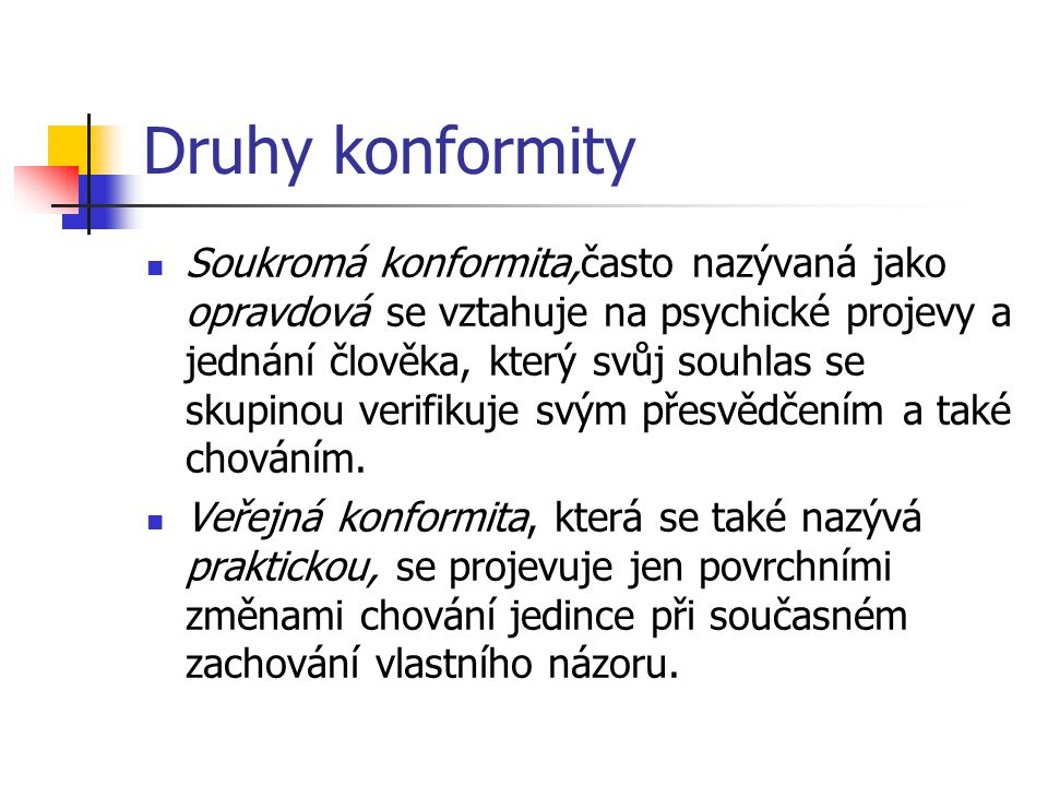 Druhy konformity