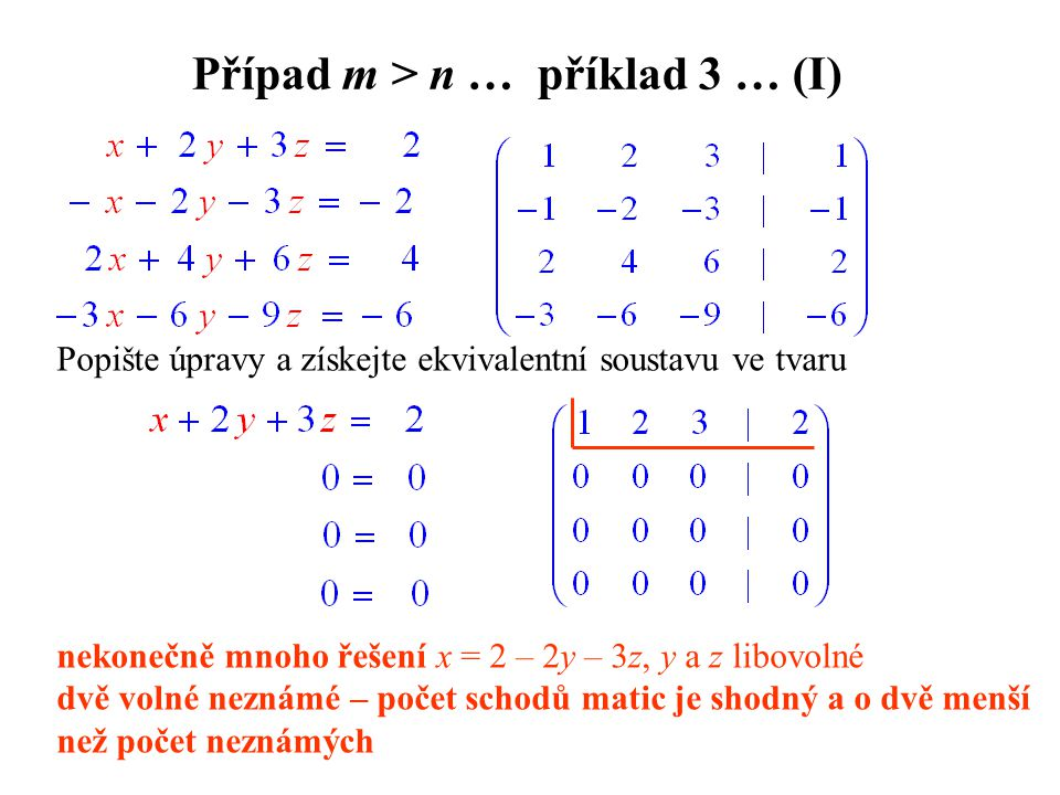 Případ m > n … příklad 3 … (I)