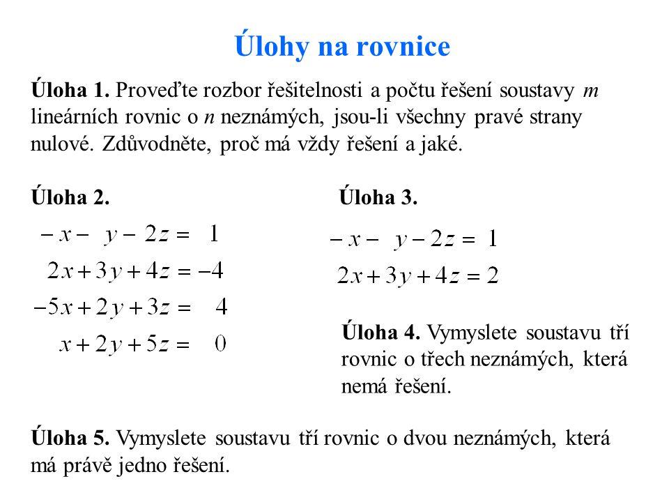 Úlohy na rovnice