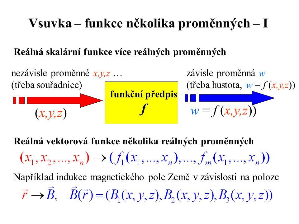 Vsuvka – funkce několika proměnných – I