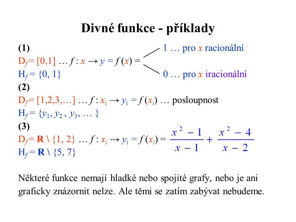 Divné funkce - příklady