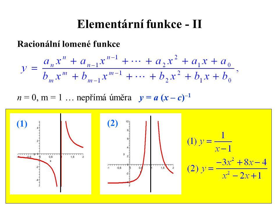 Elementární funkce - II