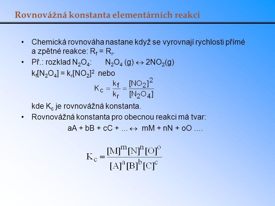 Rovnovážná konstanta elementárních reakcí