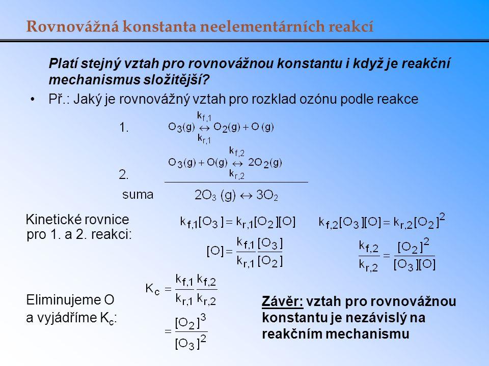 Rovnovážná konstanta neelementárních reakcí