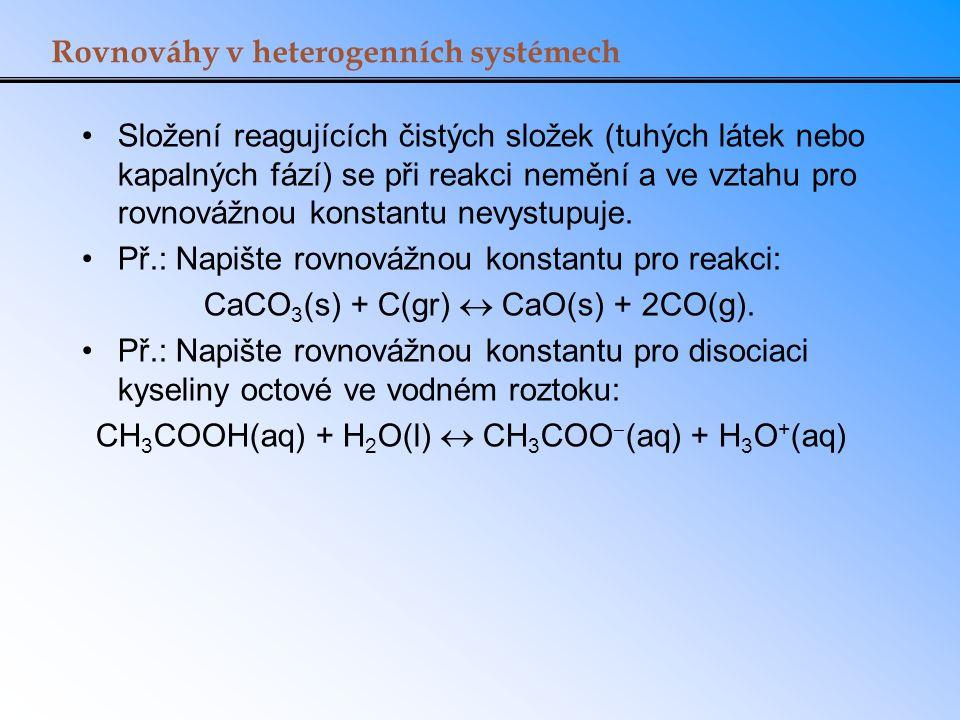 Rovnováhy v heterogenních systémech