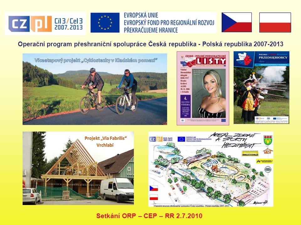 Operační program přeshraniční spolupráce Česká republika - Polská republika 2007-2013