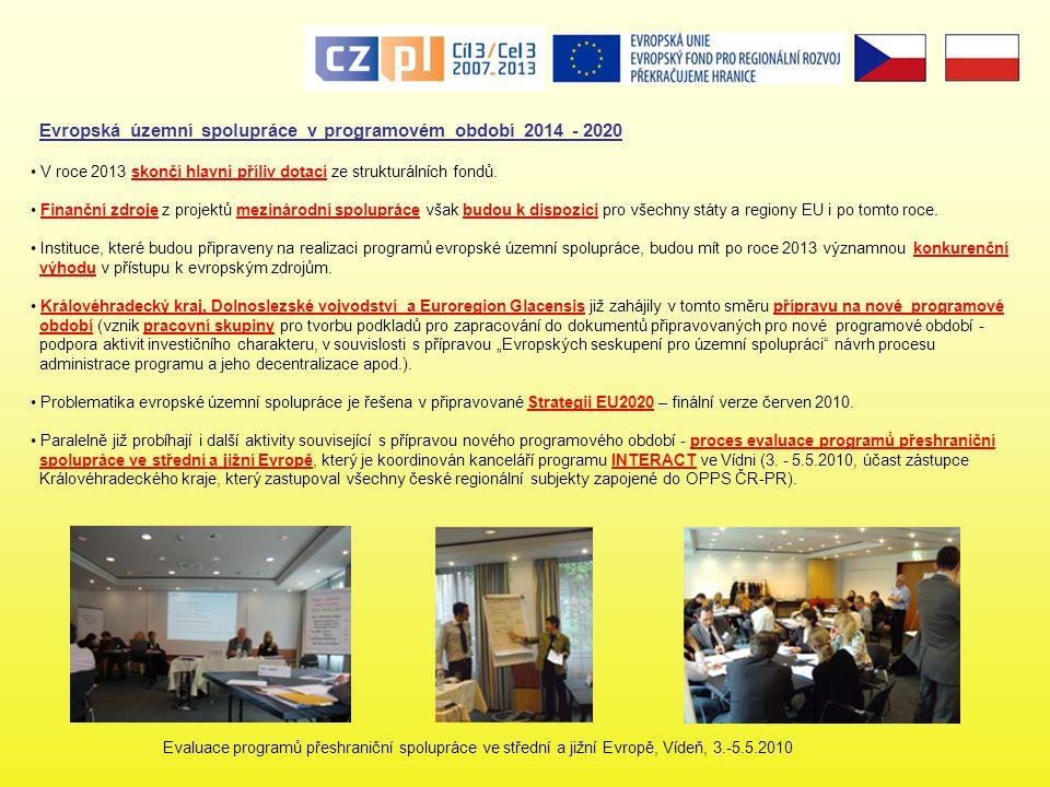 Evropská územní spolupráce v programovém období 2014 - 2020