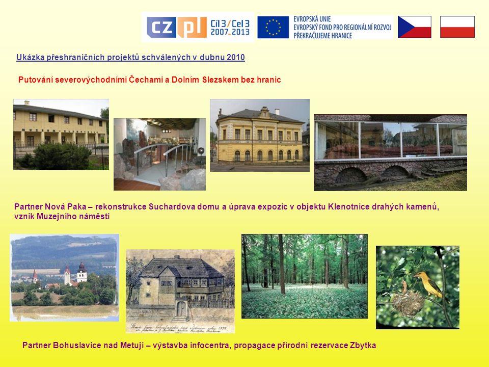 Ukázka přeshraničních projektů schválených v dubnu 2010