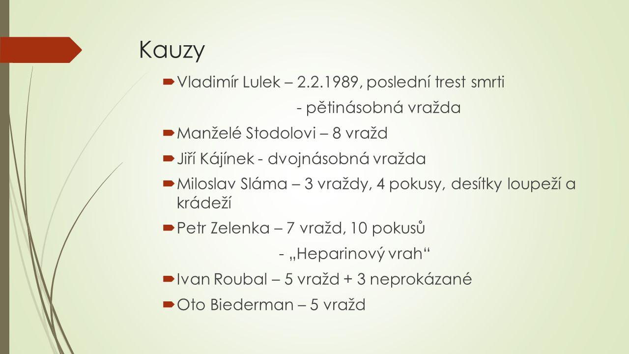 Kauzy Vladimír Lulek – 2.2.1989, poslední trest smrti