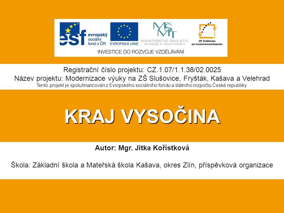 Autor: Mgr. Jitka Kořístková
