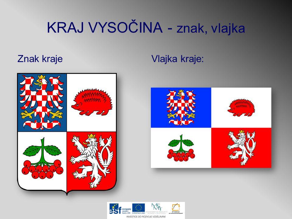 KRAJ VYSOČINA - znak, vlajka