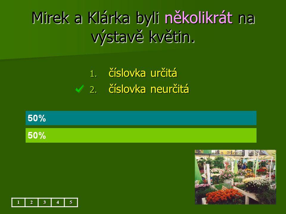 Mirek a Klárka byli několikrát na výstavě květin.