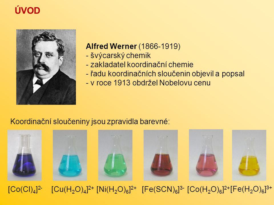 ÚVOD Alfred Werner (1866-1919) - švýcarský chemik