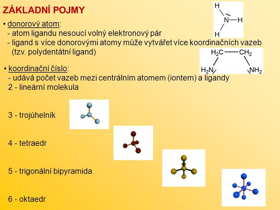 ZÁKLADNÍ POJMY donorový atom: