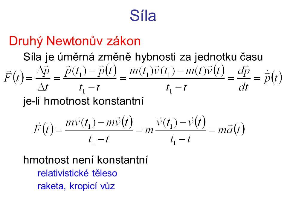 Síla Druhý Newtonův zákon