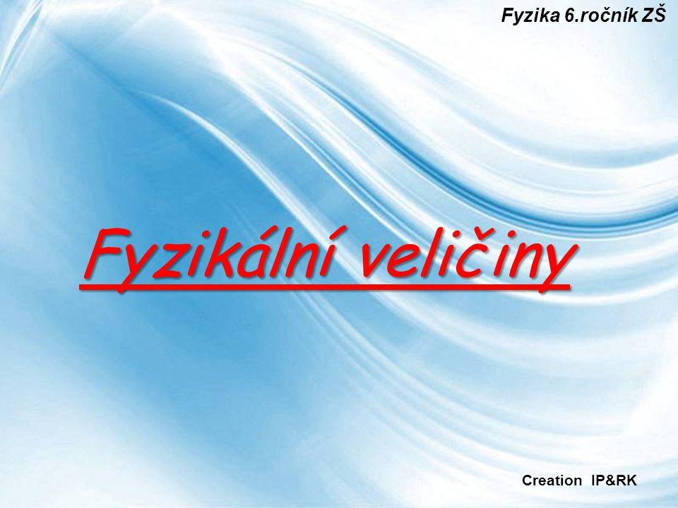 Fyzika 6.ročník ZŠ Fyzikální veličiny Creation IP&RK