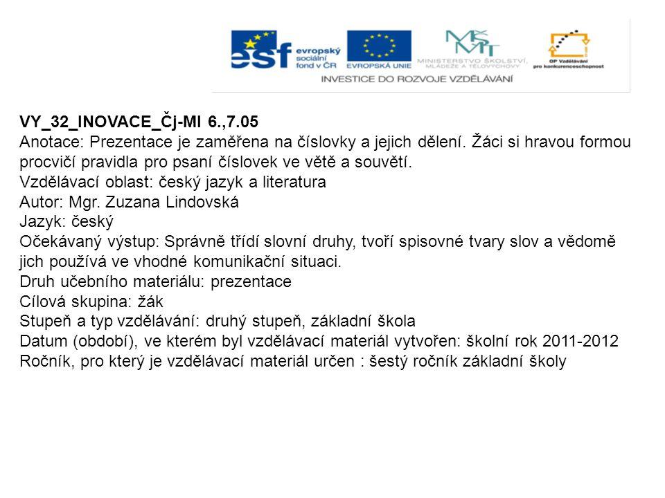 VY_32_INOVACE_Čj-Ml 6.,7.05